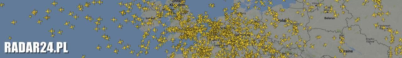 RADAR LOTÓW SAMOLOTÓW - RADAR24.PL - Śledzenie samolotów na żywo
