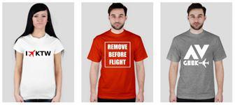 Koszulki i gadżety lotnicze w sklepie lotniczym Radar 24.