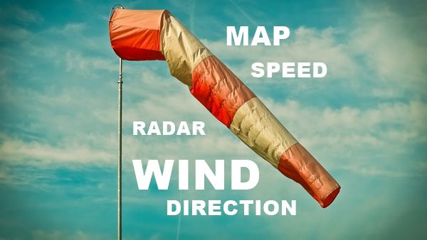Live wind speed map - wind direction